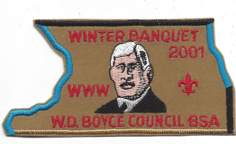 OA Lodge # 23 Wenasa Quenhotan 2001 Winter Banquet Patch W. D. Boyce  [IL318]