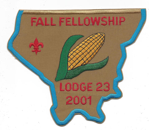 OA Lodge # 23 Wenasa Quenhotan 2001 Fall Fellowship Patch W. D. Boyce Council