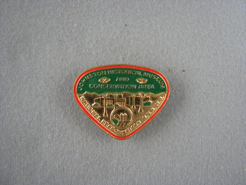 Johnson Historical Musuem and Consdervation Area Metal Neckerchief Slide