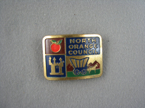 North Orange Council Metal Neckerchief Slide