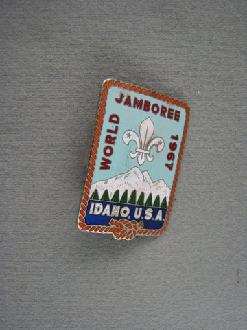 1967 World Scout Jamboree Idaho USA Metal Neckerchief Slide