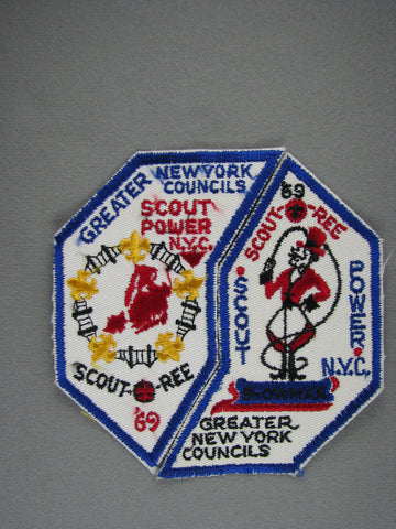 1969 Greater New York s Scout-O-Ree Scout Power 2-patch Set [G1936]