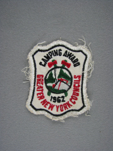 1960s Ten Mile River Scout Camp Greater New York  Award Cut-Edge Patch (worn) [G1939]