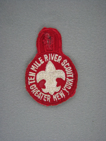 1960s Ten Mile River Scout Camp Greater New York  Cut-Edge Patch (worn) [G1940]