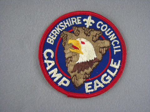 1960s Camp Eagle Patch Berkshire  Red Border [G1947]