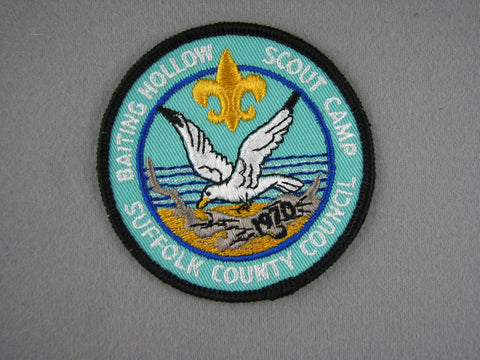 1970s Baiting Hollow Scout Camp Suffolk County  Blk Bdr Patch [G1948]