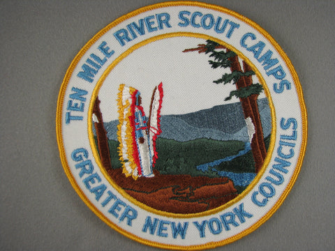 1960s Ten Mile River Scout Camp Greater New York  Jacket Patch [G1951]