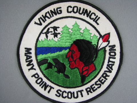 1960s Many Points Scout Reservation Viking  Jacket Patch [G1954]