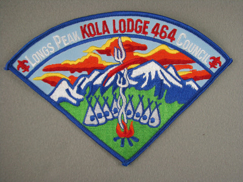 OA Lodge 464 Kola 1990s Pie Shaped Patch Longs Peak  Greeley, CO [G1962]