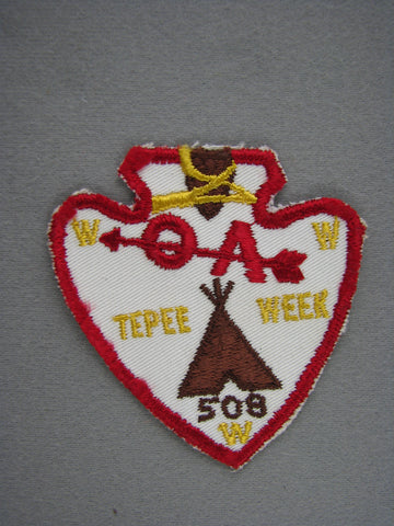 OA Lodge 508 Tu-Cubin-Noonie Twill First Issue Tepee Week Utah National Parks  Provo, UT [G1964]