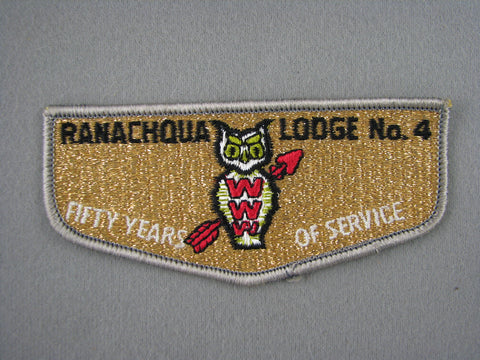 OA Lodge 4 Ranachqua S4 Flap 50th Anniversary Greater New York, The Bronx  Bronx, NY [G1967]