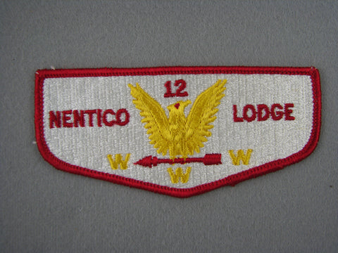 OA Lodge 12 Nentico Flap Clothback Pre-fdl Baltimore Area  Baltimore, MD [G1970]