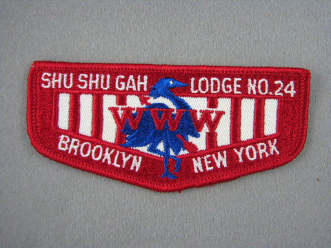 OA Lodge 24 Shu-Shu-Gah Twill Flap Greater New York, Brooklyn  Brooklyn, NY [G1972]