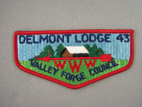 OA Lodge 43 Delmont Flap Pre-fdl Valley Forge  Valley Forge, PA [G1975]