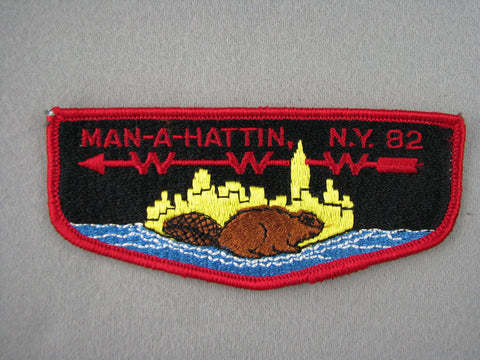 OA Lodge 82 Man-A-Hattin S2 Pre-fdl Flap Greater New York, Manhattan  [G1978]
