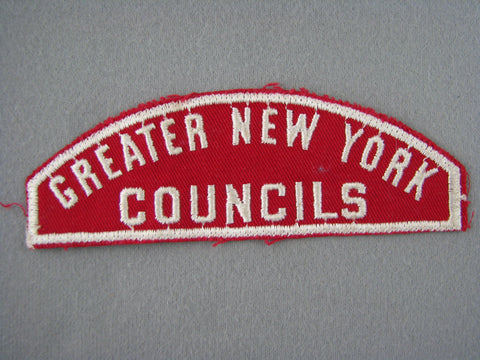 Greater New York s RWS Red & White Shoulder Strip (sewn) [G1982]