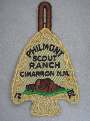 Philmont Arrowhead Late 1960s Clothback Issue [G1996]