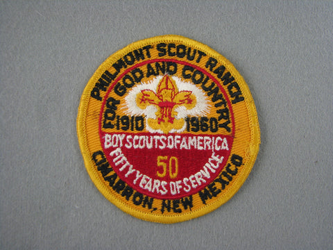 1960 Philmont Scout Ranch 50th Anniversary Patch [G2001]