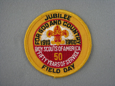 1960 Jubilee Field Day 50th Anniversary Patch [G2002]
