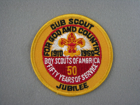 1960 Cub Scout Jubilee 50th Anniversary Patch