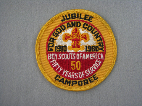 1960 Boy Scout Camporee 50th Anniversary Patch
