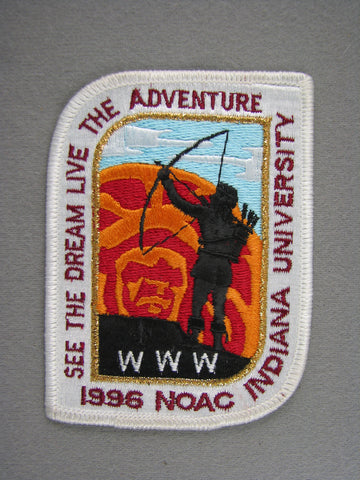 1996 NOAC Order of the Arrow OA Conference Patch White Border