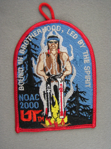 2000 NOAC Order of the Arrow OA Conference Patch Red Border With Loop