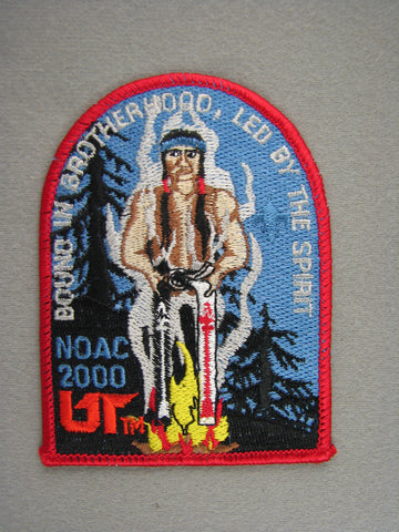 2000 NOAC Order of the Arrow OA Conference Patch Red Border