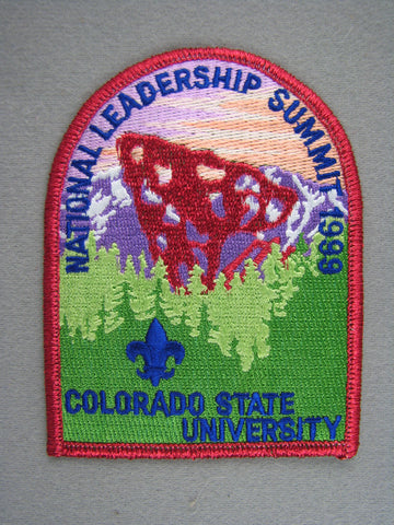 1999 National Leadership Summit Order of the Arrow OA Red Mylar Border Patch