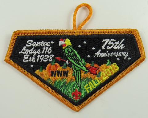 #116 Santee Lodge 2013 Fall Fellowship - Scout Patch HQ