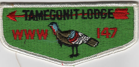 OA Lodge # 147 Tamegonit S1 Flap standing turkey; HOR field Heart of America  [MO270]