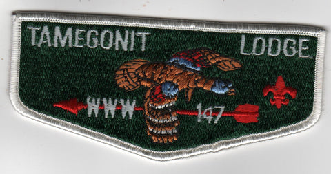 OA Lodge # 147 Tamegonit S13 Flap WHT Heart of America  [MO283]