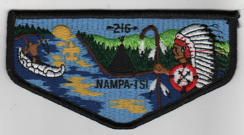OA Lodge # 216 Nampa-Tsi Error Flap (no WWW, or RED behind lodge #) Great Rivers  [MO301]