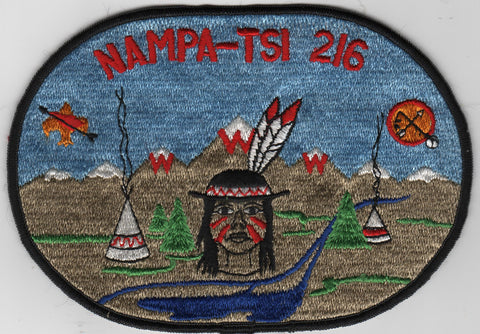 OA Lodge # 216 Nampa-Tsi J1 Oval Jacket Patch Great Rivers  [MO305]