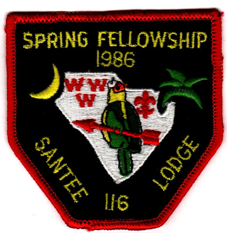 #116 Santee Lodge 1986 Spring Fellowship (no loop)