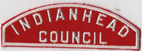 RWS Indianhead Council Red & White Shoulder Strip CSP (tacky backing, otherwise mint)