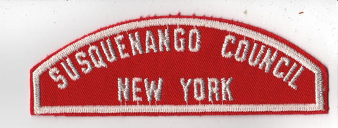 RWS Susquenango  Red & White Shoulder Strip CSP (tacky backing, otherwise mint)