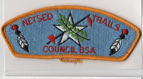 Netseo Trails Councl CSP Gold Border - Scout Patch HQ