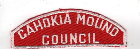 RWS Cahokia Mound Council Red & White Shoulder Strip CSP (sewn)