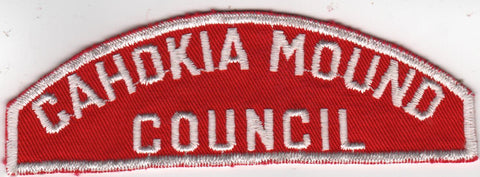 RWS Cahokia Mound  Red & White Shoulder Strip CSP (sewn) [MO362]