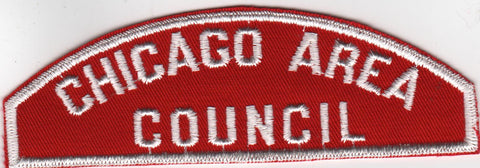 RWS Chicago Area Council Illinois Red & White Shoulder Strip CSP