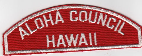 RWS Aloha Council Hawaii Red & White Shoulder Strip CSP