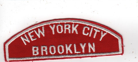 RWS New York City Brooklyn  Red & White Shoulder Strip CSP [MO374]