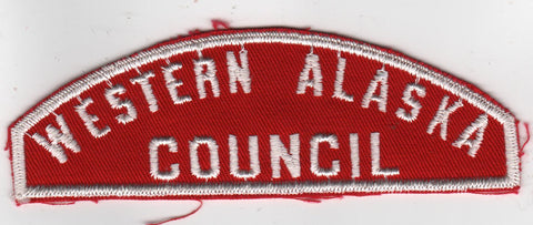 RWS Western Alaska Council Red & White Shoulder Strip CSP