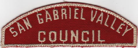 RWS San Gabriel Valley  Red & White Shoulder Strip CSP (sewn) [MO381]