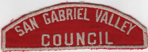 RWS San Gabriel Valley  Red & White Shoulder Strip CSP (sewn) [MO383]