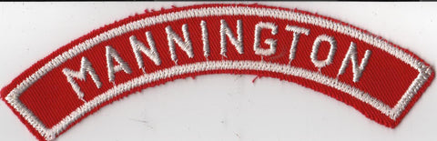 MANNINGTON RWS Red & White Community Strip (tacky backing, otherwise mint) [RWS262]<<