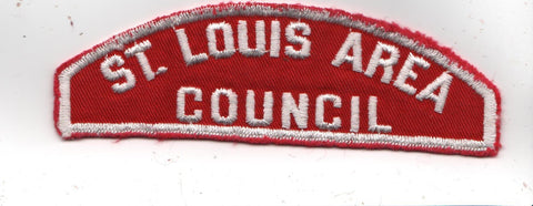RWS St. Louis Area  Missouri Red & White Shoulder Strip CSP (sewn) [MO403]