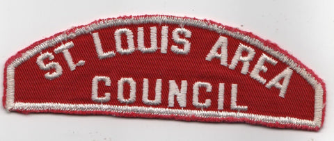 RWS St. Louis Area  Missouri Red & White Shoulder Strip CSP (sewn) [MO404]