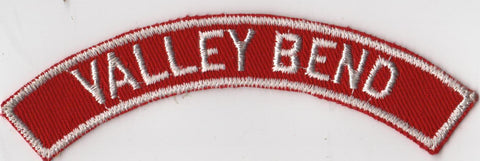 VALLEY BEND RWS Red & White Community Strip (tacky backing, otherwise mint)